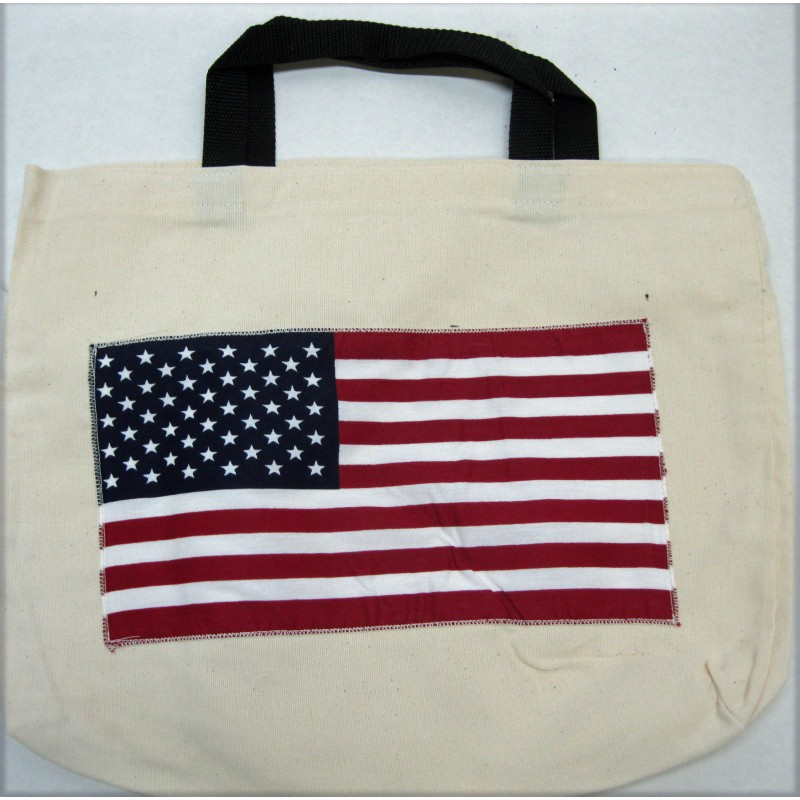 Lady Remington Cotton Tote Bag - Style 128 American Flag