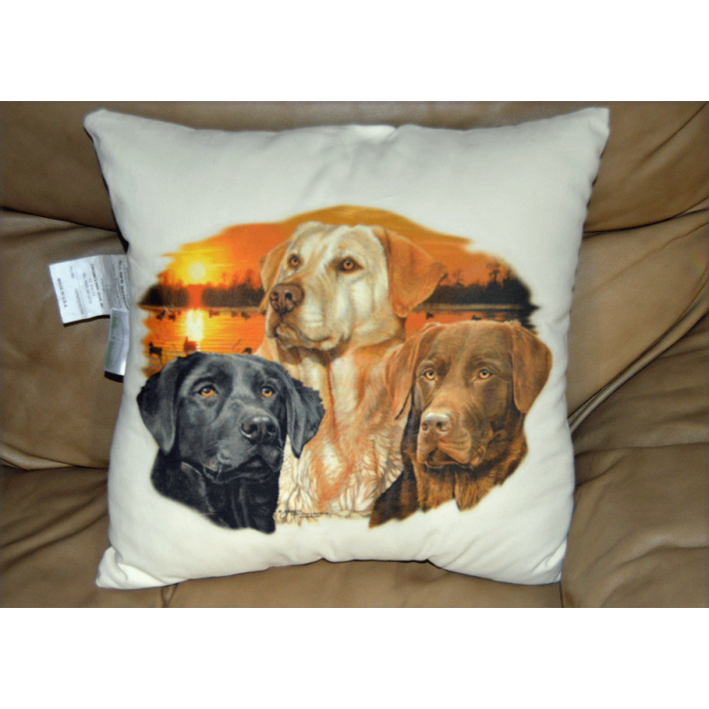 "Lady Remington Pillow 17""   Style 149  Trio Lab  Storm"